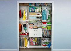 Kids closet - contemporary - kids dressers - new york - European Closet & Cabinet Master Bedroom Closet, Kids Bedroom, Bedroom Ideas, Kid Closet, Closet Ideas, Kids Dressers, Kids Room Organization, Closet Storage, Blue Walls