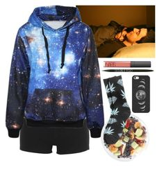 """Chilling w/ Sammy Wilk"" by baeisme ❤ liked on Polyvore featuring Moschino, FRUIT, NARS Cosmetics, HUF and Casetify"