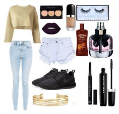 """""""style"""" by mackenzien813 on Polyvore featuring adidas Originals, New Look, NIKE, Lime Crime, Marc Jacobs, Huda Beauty, Christian Dior, Yves Saint Laurent, One Teaspoon and Stella & Dot"""
