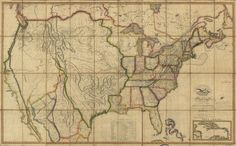 Map of the United States of America : with the contiguous British and Spanish possessions  | Library of Congress