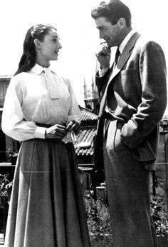 Audrey Hepburn & Gregory Peck ~ Roman Holiday, 1953