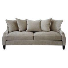 Grey sofa for living room (Brighton Sofa - Moonbeam from Z Gallerie)