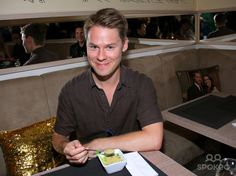 """Randy Harrison attending reception at Ralph Morgenstern cafe during the Rise'n Shine """"Queer As Folk"""" fan convention at Babylon Sauna."""