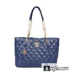 Chanel A08153 Shopper Bag Sheepskin Leather Blue - Chanel 2013 Bags - CHANEL.  Lm Sun 82c8fed89df