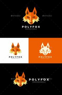 Fox Logo Template PSD, Vector EPS, AI Illustrator