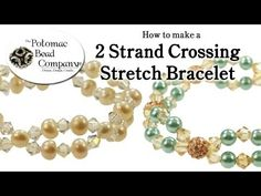 How to Make a 2 Strand Crossing Stretch Bracelet - YouTube