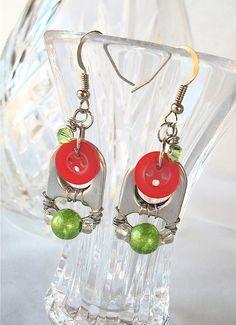 Pop Tab & Button Earrings