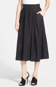 Milly 'Katie' Full Midi Skirt available at #Nordstrom