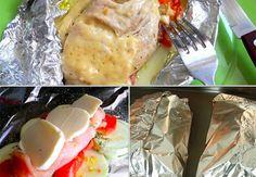 Vše v jednom alobalu, zapečené v troubě. Vynikající volba na oběd. Paleo, Keto, Mozzarella, Mashed Potatoes, Tacos, Cooking Recipes, Chicken, Ethnic Recipes, Food