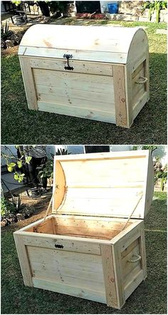 pallets wood made chest 1