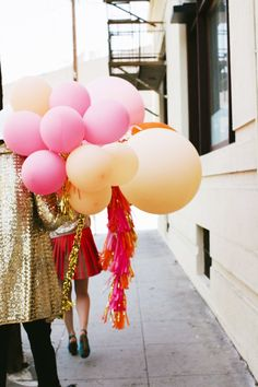 That kind of party.. Colour balloons, for a great gatsby party