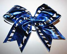 BAM Zebra - Metallic and Zebra Cheerleading Bow by FunBows