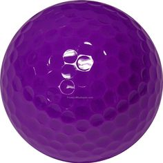 Objects That Are Purple | Golf Balls - Purple - Custom Printed - 2 Color - Clear 3 Ball Sleeves