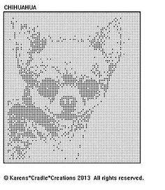 CHIHUAHUA Filet Crochet Pattern