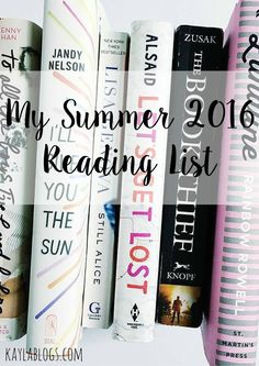 So excited to present my summer 2016 reading list featuring some books I bought a year ago and still haven't gotten /////Carpe Diem///// I Love Books, Books To Read, My Books, Amazing Books, Teen Books, Summer Reading Lists, Reading 2016, Summer Books, Reading Rainbow