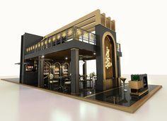Exhibition Stand @ Book Fair Sharjah 2015 - Famous Last Words Cafe Shop Design, Kiosk Design, Restaurant Interior Design, House Design, Cafe Concept, Front Elevation Designs, Pharmacy Design, Architectural House Plans, Exhibition Booth Design
