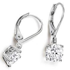 diamond drop earrings. Simple but ellegant
