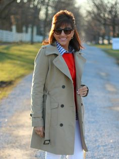 A trench coat is a must have for me and such a great transitional piece.