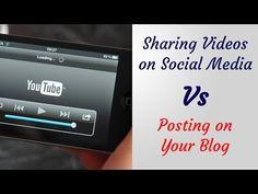 Posting Videos on Social Media Vs Embedding on Your Website/ Blog... - YouTube