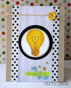 April 2014 Creative Cardsea: April Card Kit - You Brighten My Day