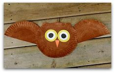 Nocturnal animals theme--- owl craft for preschool - Google Search. Add feathers around wings on top.