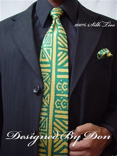 Humanity by DesignedByDonTies on Etsy Tie Set, Silk Ties, Woven Fabric, Green And Gold, Pattern, Color, Design, Etsy, Colour