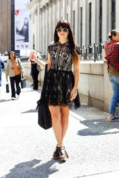 Indigo Clarke wearing a Lover dress and Zanzan sunglasses