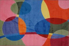 Fun Rugs TSC-246 3958 Supreme Collection Groovy Dots Multi-Color - 39 x 58 in.
