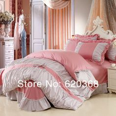 100% COTTON Princess Diary Korean Style 4pcs Bedding Sets/bed set bed sheets duvet cover pillowcase with For Retail & Wholesale on AliExpress.com. 5% off $64.59