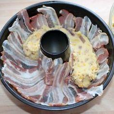 cununa de cartofi cu bacon