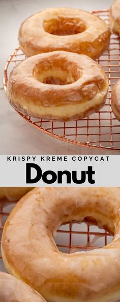 This Krispy Kreme donut recipe tastes just like the original! You'll be amazed at how simple it is to put together this dough to create an airy donut that's topped with a light glaze. #dessert #individualdesserts #dessertrecipe #donutdessert #kremedonutrecipe #sweetrecipe #deliciousrecipe
