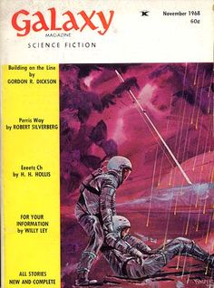 building on the line. Book Cover Art, Book Art, Book Covers, Science Fiction Magazines, Isaac Asimov, Pulp Magazine, Sci Fi Books, Retro Futurism, Sci Fi Art