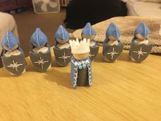 My own hand-made Winter Knights and their Royal King  http://www.facebook.com/beautifulthingsbytammyleah