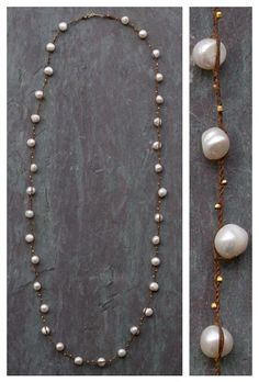 Rope and Pearl Knotted Necklace