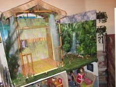 My DIY American Girl Lea Clark's Rainforest House - YouTube