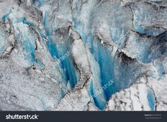 Dirty Calving Glacier Ice