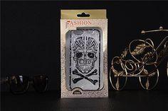 3D transparente Handyhülle mit Schädel und Knochen für iPhone 6/6 Plus - spitzekarte.com