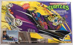 Foot Cruiser vintage TMNT vehicle with box Playmates 1989 Footcruiser