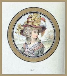 Hats by Madame Bertin  (Milliner to Marie Antoinette & the French Court)1788