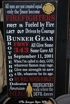 September 11 Tribute Firefighter Firefighting by thehomespunraven, $70.00