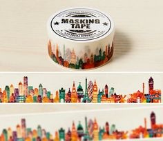 Colorful City Skyline Washi Tape