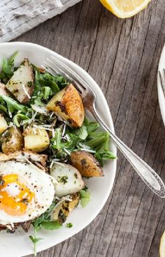 and Gluten Free Recipe - Fried eggs with rosemary sautéed potatoes ...