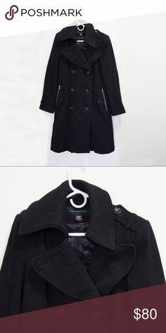 Pea Coat Black long pea coat from Apostrophe. Elegant yet modern. Apostrophe Jackets & Coats Pea Coats