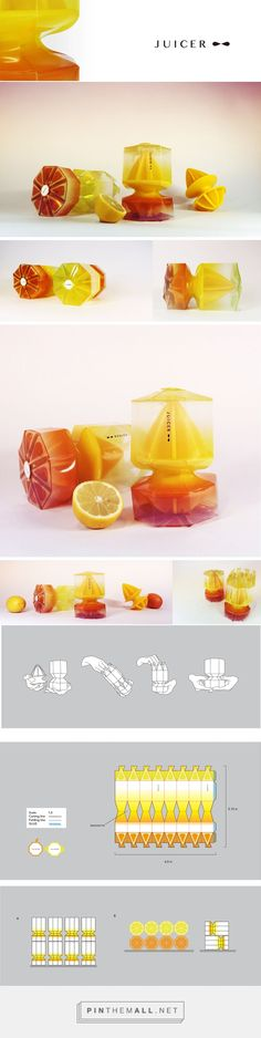 JUICER PACKAGE on Behance by TINA CHIEN-CHUN FENG New York, NY curated by Packaging Diva PD. JUICER structural packaging. Compare to normal rectangle box, this packaging emphasizes package structural to show the juicer. Packaging uses two colors because this juicer is a double-side juicer, one side for orange and other side for lemon.