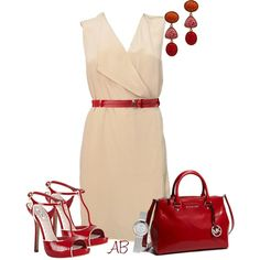 Red, created by amandabeaulieu on Polyvore