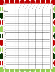 December Checkoff Printable Freebie www. Classroom Helpers, Classroom Jobs, Organization And Management, Teacher Organization, Filofax, Grade Book Template, Student Info, Classroom Decor Themes, Teacher Binder
