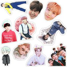 Pop Stickers, Meme Stickers, Tumblr Stickers, Scrapbook Stickers, Printable Stickers, Tumblr Polaroid, Bts Tickets, Collage Vintage, Bts Chibi