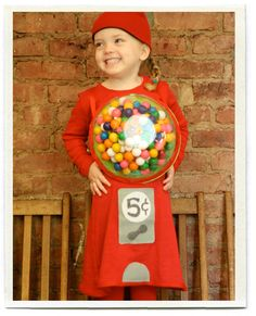 Fall is officially here and Halloween is just around the corner. And lots of costumes. I love seeing the little kids dressed in their costumes parading down the street on Halloween night. They look so adorable waddling up Costume Halloween, Gumball Machine Halloween Costume, Gumball Costume, Diy Halloween Costumes For Kids, Diy Costumes, Halloween Crafts, Happy Halloween, Costume Ideas, Halloween Clothes