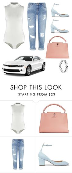 """""""Shopping around LA ootd"""" by itsbrianasanders on Polyvore featuring Topshop, Louis Vuitton, Miss Selfridge, Valentino and Pandora"""
