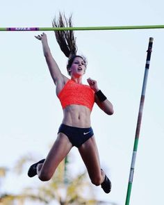 Eliza McCartney over the top competes in the Women's Pole Vault final during the Auckland Track Challenge at The Trusts Arena in Auckland, New Zealand.